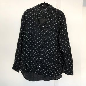 Madewell oversized pattern button down